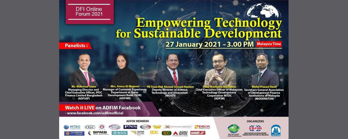 The Global DFI Online Forum: Empowering Technology for Sustainable Development, 27th...